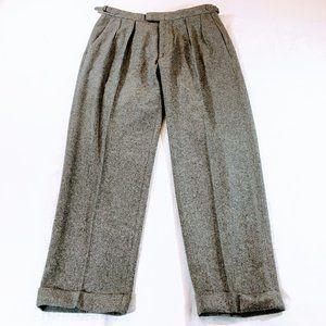 Vtg Polo Ralph Lauren Wool Tweed Dress Trousers